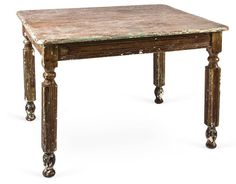 Vintage Rustic Farm Dining Table