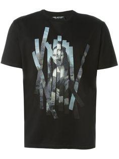NEIL BARRETT Mona Lisa T-Shirt. #neilbarrett #cloth #