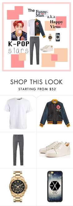 """""""Park Chanyeol Look"""" by zatastyles ❤ liked on Polyvore featuring MABEL, Alexander Wang, Gucci, BOSS Orange, Michael Kors, men's fashion, menswear, kpop, EXO and kpopstars"""