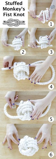 http://www.handsoccupied.com/2013/12/rope-ball-surprise-dog-toy/