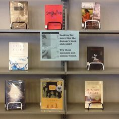 If you liked the January book club pick, Girl, Interrupted, check out this display. You'll find more information about teen suicide and depression, as well as memoirs and novels with similar themes. (January 2014)