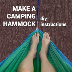 Simple DIY Instructions for making an inexpensive knock-off of an Eno Double-Nest Hammock