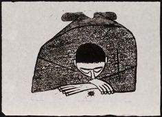 Margo Hoff, Boy with Bug. 1950s  woodcut