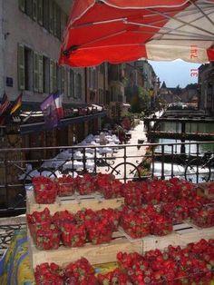Strawberry Fair, Annecy, France