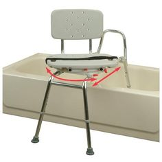 tub mount x short transfer bench with molded swivel seat and back