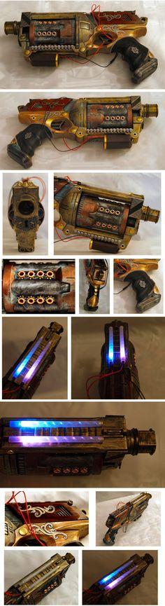 Steampunk Weapon Design.