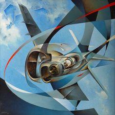 Weimar: Tullio Crali - Free Flights for Art Reasons Neo Futurism, Italian Futurism, Futurist Painting, Modern Art, Contemporary Art, Illustration Art, Illustrations, Italian Painters, Italian Art