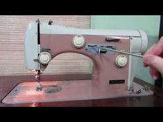 How a Manual/Mechanical Sewing Machine Works - YouTube