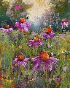 'Save the Bees'            8x10            pastel          ©Karen Margulis  sold   Never has watching paint dry been more fun. There is no...