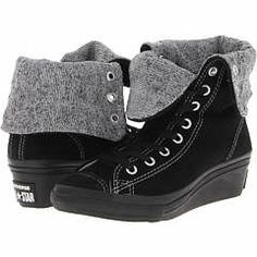 Hit a high note on your personal style while keeping it real Chuck-like with the women's Chuck Taylor All Star Hi-Ness sneaker from Converse! Canvas uppers. Unlined with a padded footbed for all-day comfort. ; Traditional lace up front for optimum fit. ; Slightly raised heel with classic Chuck Taylor All Star touches like a rubber toe box, textured toe bumper, medial-side airvent portholes and All Star heel patch details. Classic Converse diamond-print rubber outsole