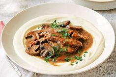 Slow cooker beef and mushrooms with mash main image
