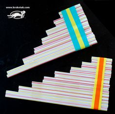 singing straws, a great craft for kids. Could even help a kid learn to listen and play by ear.