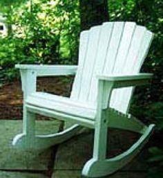 28-149783 - Rocking Adirondack Chair Woodworking Plan.