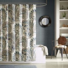 Shop for Ink Ivy Mira Cotton Printed Shower Curtain - 2 color options. Free Shipping on orders over $45 at Overstock.com - Your Online Bath