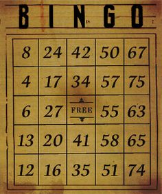 Printable vintage-bingo-cards