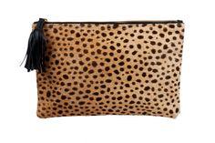 Leopard clutch, Leopard Clutch, Leather leopard clutch, Leopard bag