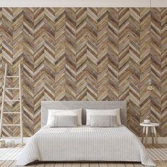 Faux wood herringbone pattern wood wallpaper Textured Walls, Farmhouse Style Nursery, Home, Wallpaper, Shiplap Nursery, Room Inspiration, Space Print, Wallpaper Samples, Home Wallpaper
