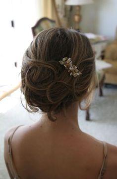 Loose wedding updo
