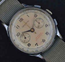 Vintage Oversized Military ORIENTAL Chronograph Watch Landeron 54
