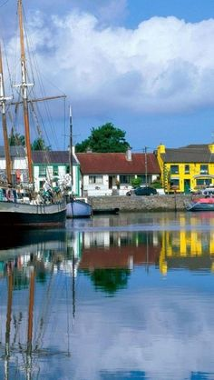 Kinvara,  County Galway, Ireland. I was here! At low tide, those boats all rest on their keels.