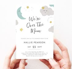 Love You to The Moon Baby Shower Invitation Gender Neutral | Etsy