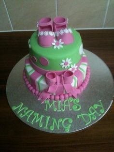 naming day cake By shell72 on CakeCentral.com
