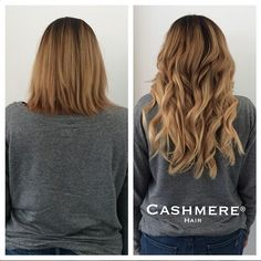 Cashmere Hair Before & After. CASHMERE HAIR clip in extensions are the BEST QUALITY!! OMG I LOVE & Cant' live without these!!! www.cashmerehairextensions.com