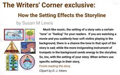 This is an interesting article about the Setting of a Story. Finish reading it at TheWritersCorner.com.