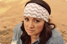 How to Make Jersey Headbands.  {Simple step by step tutorial.}#jo'scutemugonpinterest