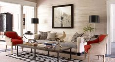 A living room by Thom Filicia.