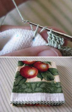 Easy Zig Zag Crocheted Edging.