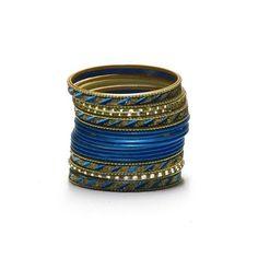 Liquidationprice.com - Bangle Bracelet Sets of 24. Slant Cut Dark Blue, $3.00 (http://www.liquidationprice.com/bangle-bracelet-sets-of-24-slant-cut-dark-blue/)