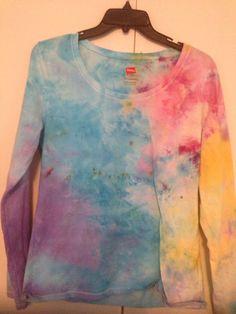 Large Long Sleeved Ice Dyed Shirt on Etsy, $15.00