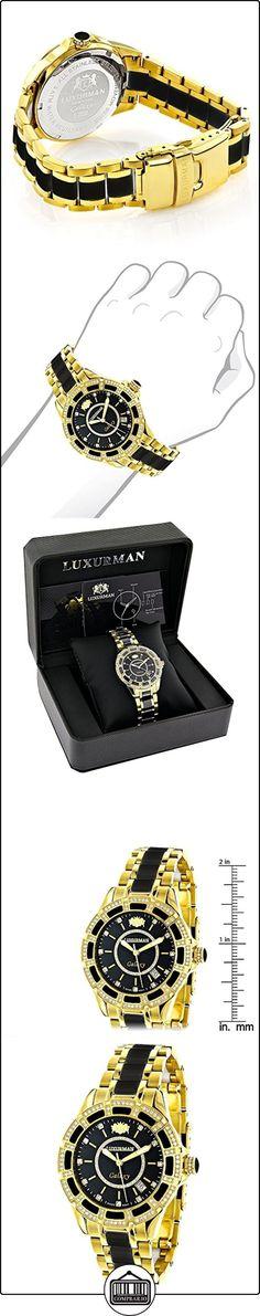 Diamond Mens & Womens Black Ceramic Watches Yellow Gold Pld Luxurman Galaxy  ✿ Relojes para hombre - (Lujo) ✿