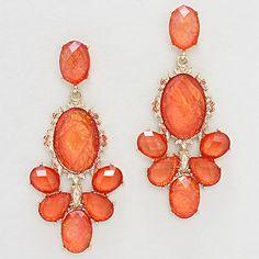 Kimmie Chandelier Earrings in Sorbet Opalescence