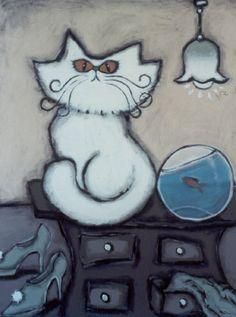 """Laura Strane """"cat and fish"""""""