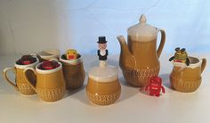 Could coffee get any better? Vintage 1960s Ceramic 7 piece Coffee by StrictlyContinental, $50.00