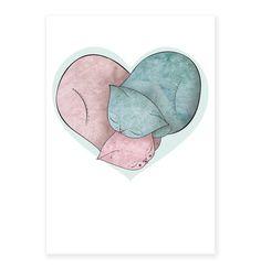 Chats de Valentines cartes Recroquevillé Amour par ShopMissElla, $3.20