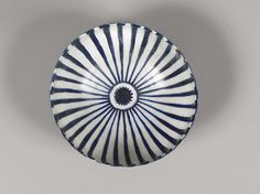 Kashan Blue and White Footed Bowl