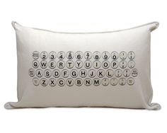 TYPEWRITER PILLOW | Home Decor, Modern Design, Writing Accessories, Clever Sofa Accessories | UncommonGoods