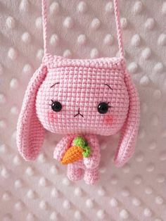 Crochet Toys, Dolls, Accessories & Bags, Custom Order by CrochetKingdomArt Kawaii Crochet, Crochet Bunny, Cute Crochet, Crochet For Kids, Crochet Crafts, Crochet Toys, Crochet Projects, Crochet Clothes, Crochet Case