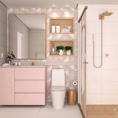 What Should You Pay Attention to While Designing a Modern Bathroom? Bathroom Design Luxury, Modern Bathroom, Small Bathroom, Pastel Bathroom, Girl Bathrooms, Bad Inspiration, Bathroom Inspiration, Home Room Design, Decor Interior Design