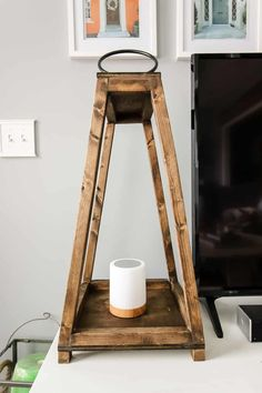 Love the look of rustic wooden lanterns? Click thru for this full tutorial on How to Build DIY Wooden Lanterns. You won't believe how easy and inexpensive it is to build your own large lanterns! Treatment Projects Care Design home decor Woodworking As A Hobby, Woodworking Workshop, Woodworking Projects, Woodworking Patterns, Woodworking Classes, Woodworking Bench, Large Lanterns, Rustic Lanterns, Diy Wood Projects
