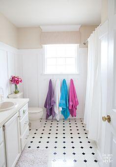 Spa like bathroom makeover for under $300