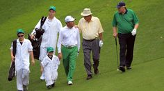 Gary, Arnie, and Jack walking the Masters Par 3 contest Augusta National Golf Club, Masters, Two By Two, Wednesday, Walking, Master's Degree, Walks, Hiking