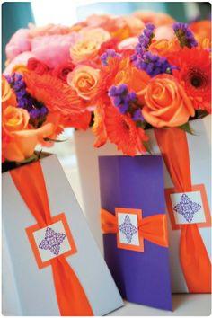 180 best Orange & Purple Wedding Inspiration images on Pinterest ...