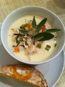 chicken and wild rice soup-looks yummy