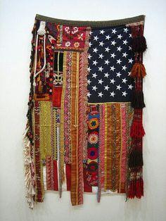 Diy bohemian wall hanger from scrap