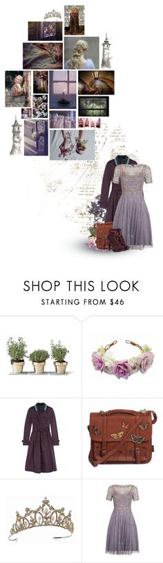 """""""Rapunzel"""" by siriuslyoddsome ❤ liked on Polyvore featuring Disney, Burberry, Bohemia, TIARA, Monsoon, Proenza Schouler, rapunzel and fairytale"""