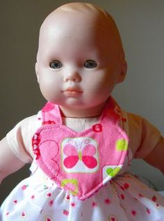 Making Doll Clothes – #3 Easy Dolly Bib | Dolly Outfitters Patterns